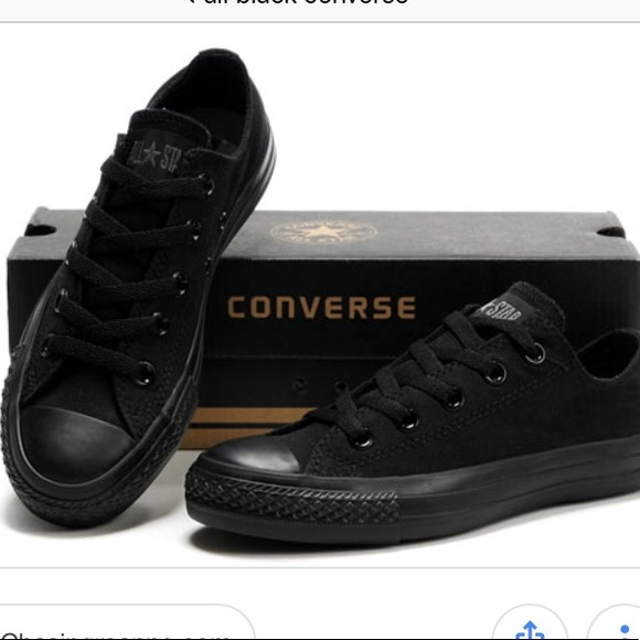 all black converse low tops womens